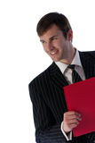 Businessman and folder Royalty Free Stock Photo