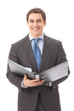 Businessman with folder Stock Image