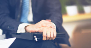 Businessman with a folder Royalty Free Stock Photography