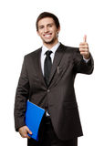 Businessman with folder with documents Stock Image