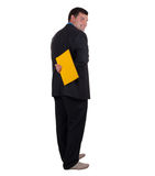 Businessman and folder Stock Photography