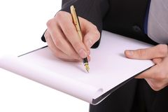 Businessman with folder for paper Stock Photography