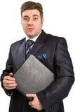 Businessman with folder Stock Image
