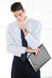 Businessman With Folder Stock Photo