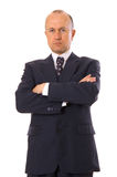 Businessman folding one's arms Royalty Free Stock Photos