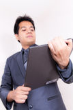 Businessman With Folio. Asian young Businessman With Folio Stock Images
