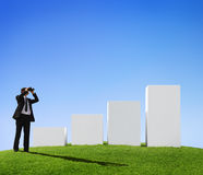 Businessman Forecasting the Growth of Business Stock Image
