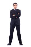 Businessman in formal attire isolated on the white Royalty Free Stock Photo