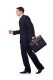 Businessman in formal attire isolated on the white Stock Photos