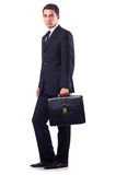 Businessman in formal attire isolated on the white Royalty Free Stock Images