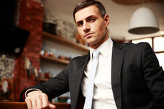 Businessman in formal cloths resting Stock Image