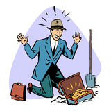 Businessman found treasure business people concept Royalty Free Stock Photo