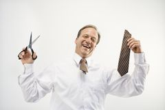 Businessman freedom concept Stock Photography