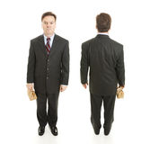 Businessman Front and Back Views Stock Image