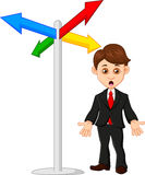 Businessman in front of a choice. Illustration of Businessman in front of a choice Stock Photography