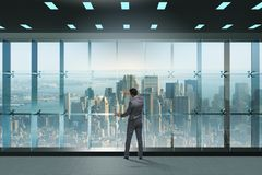 The businessman in front of office window thinking of new challenges Royalty Free Stock Photos