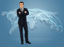 Business World Trade Global Map Logistics Concept Stock Photography