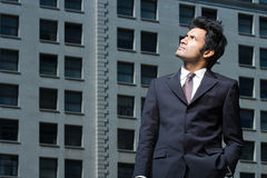 Businessman frowning Royalty Free Stock Photo