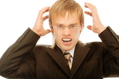 Businessman frustrated with his Stock Images