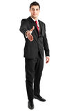 Businessman full length handshake Royalty Free Stock Photo