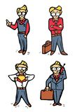 Businessman cartoon icons set Stock Image