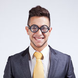 Businessman with funny glasses Royalty Free Stock Photo