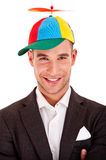 Businessman in funny hat Royalty Free Stock Photos