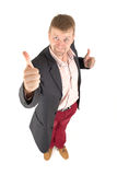 Businessman with funny view Royalty Free Stock Photos