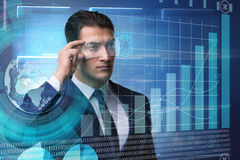 The businessman in future trading concept Stock Photo