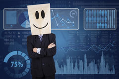 Businessman and futuristic interface Stock Photos