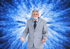 Businessman gagged with adhesive tape on mouth Royalty Free Stock Images