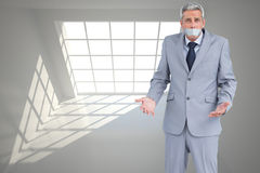 Businessman gagged with adhesive tape on mouth Stock Images