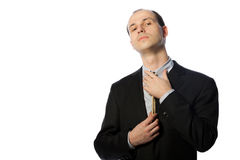 Businessman with gallow tie Royalty Free Stock Images