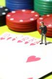 Businessman gambling D Stock Photography