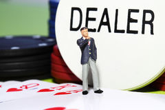 Businessman gambling G Royalty Free Stock Images
