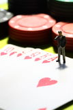 Businessman gambling Stock Images