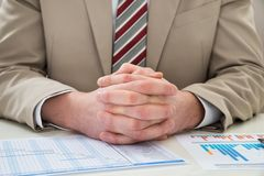 Businessman with gantt chart Stock Image