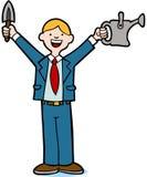 Businessman Gardener Stock Image