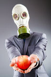 Businessman with gas mask Stock Image