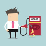 Businessman and gas station Stock Images