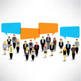 Businessman gather and talk together. A big group of businessman gather and talk together design stock illustration