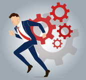 Businessman with gear to success concept vector Stock Image
