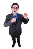 Businessman geek Stock Image