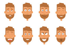 Businessman generation of various expressions. Emotions faces vector characters. Royalty Free Stock Photography