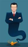 Businessman genie Stock Photo