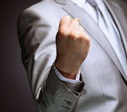 The businessman, a gesture, a finger. Royalty Free Stock Photography