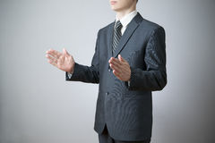 Businessman gesture with his hands Stock Photo