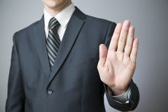 Businessman gesture with his hands Stock Image