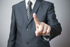 Businessman gesture with his hands Stock Photography