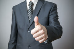 Businessman gesture with his hands Stock Photos